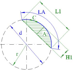 circle segment arc diameter