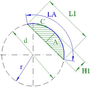 circle segment arc radius