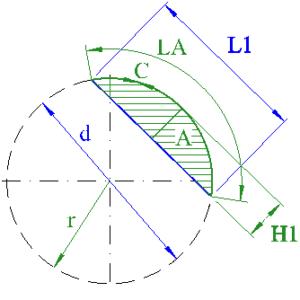 circle segment chord diameter