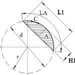 Circumference and area of a circle segment